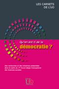 Couverture : Qu'en est-il de la démocratie?